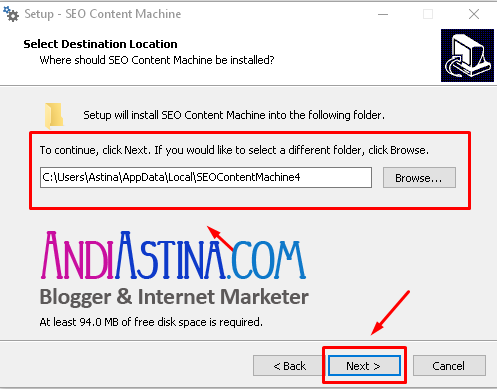 Install SEO Content Machine Directory