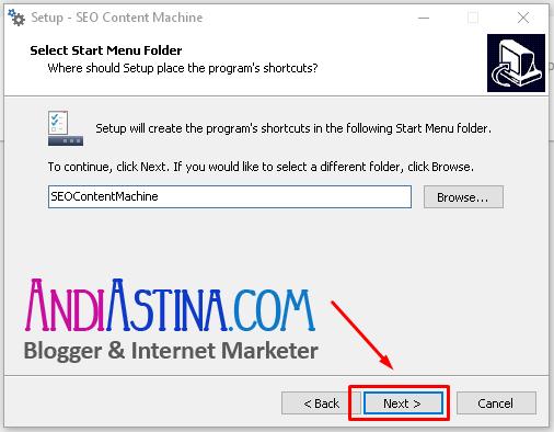 Install SEO Content Machine Menu