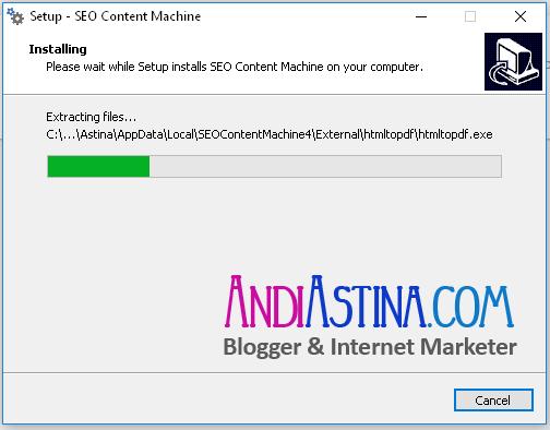 Install SEO Content Machine Proses